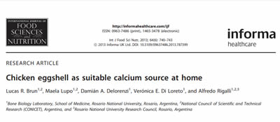 Chicken eggshell as suitable calcium source at home